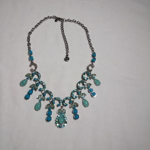 Jewelry - Blues & Greens Rhinestone Necklace